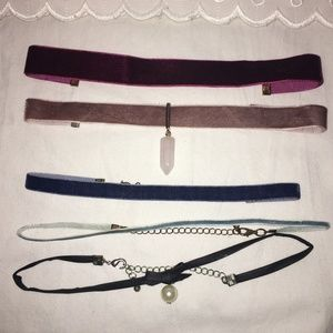 Set of 5 Chokers (Target, Forever 21, and more)